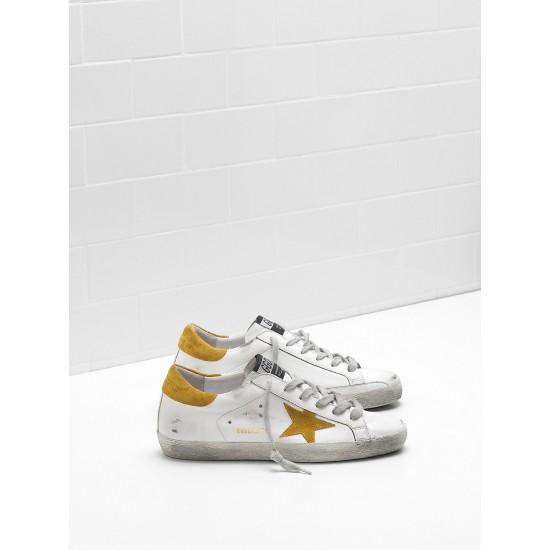 Men/Women Golden Goose superstar leather suede yellow star sneaker
