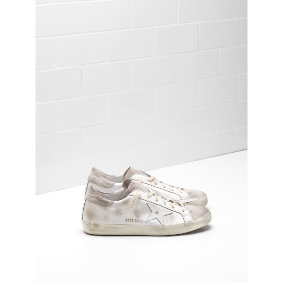 Men/Women Golden Goose superstar skin leather coated in silk sneaker