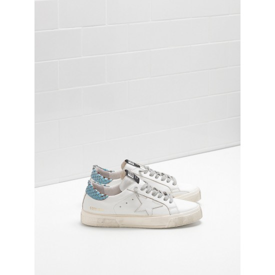 Women Golden Goose may in blue white star logo sneaker