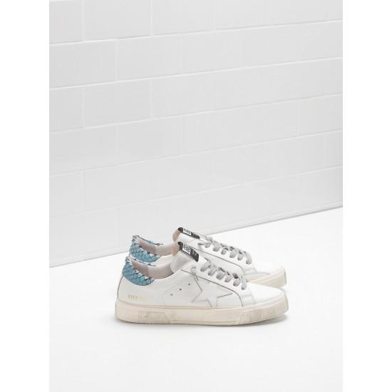 Women Golden Goose may in blue white star logo sneaker
