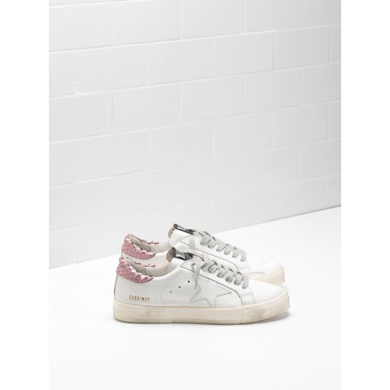 Women Golden Goose may in pink white star logo sneaker