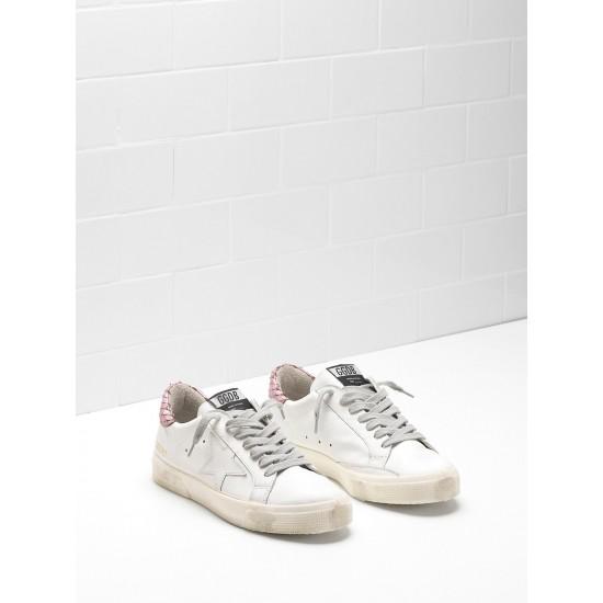 Women Golden Goose may in pink white star logo sneaker