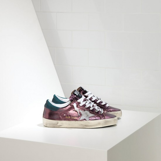 Women Golden Goose superstar in Metal purple sneaker