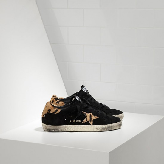 Women Golden Goose superstar in nabuk in cavallino sneaker