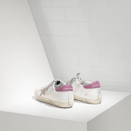 Women Golden Goose superstar in white purple sneaker