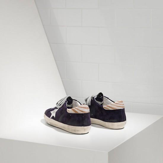 Women Golden Goose superstar leather purple suede sneaker