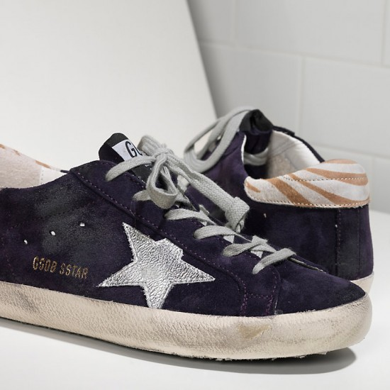 Women Golden Goose superstar leather purple suede sneaker