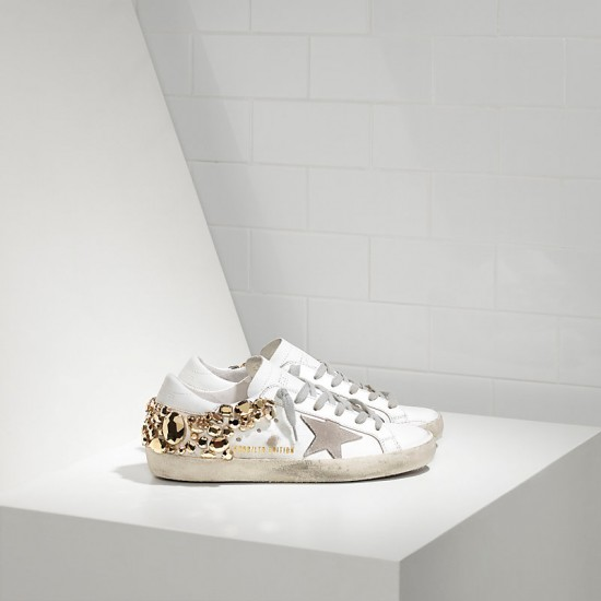 Women Golden Goose superstar limited edition in gold diamond sneaker