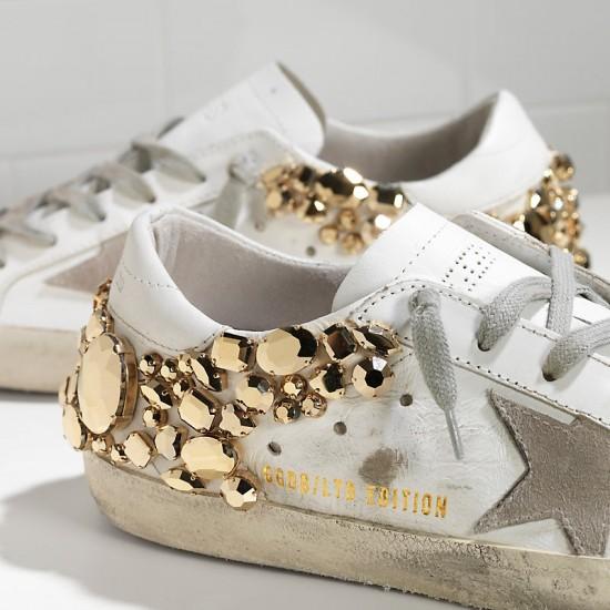 Women Golden Goose superstar limited edition in gold diamond sneaker