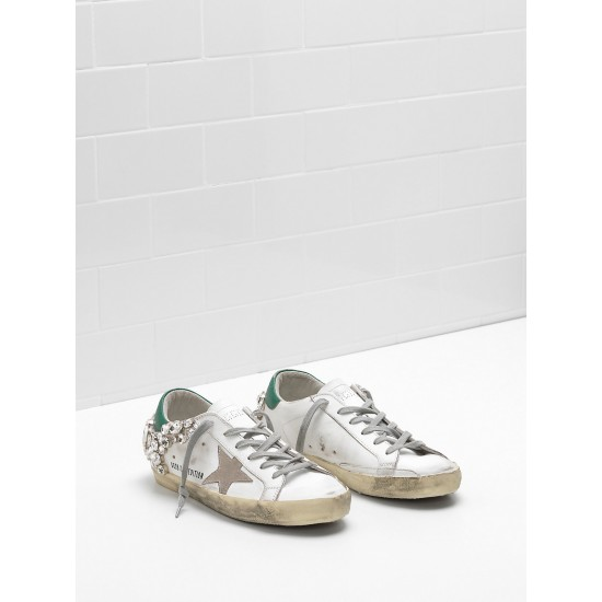 Women Golden Goose superstar limited edition in white diamond sneaker