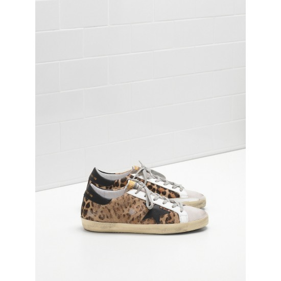 Women Golden Goose superstar classic in leopard print sneaker