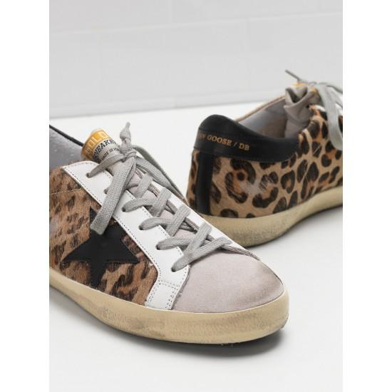 Women Golden Goose superstar classic in leopard print sneaker