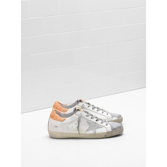 Women Golden Goose superstar leather glitter coated star coated sneaker