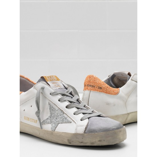 Women Golden Goose superstar leather glitter coated star coated sneaker