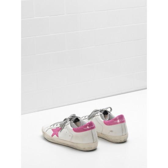 Women Golden Goose superstar leather glitter star coated in pink star sneaker