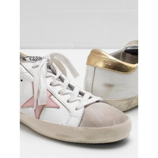 Women Golden Goose superstar leather star in laminated sneaker