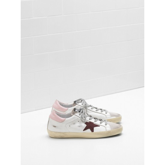 Women Golden Goose superstar leather star in suede leather sneaker