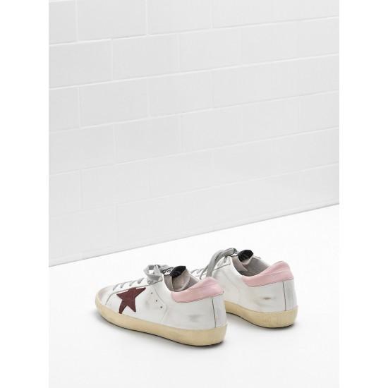 Women Golden Goose superstar leather star in suede leather sneaker