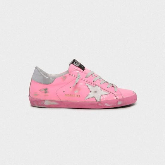 Women Golden Goose superstar light pink with silver sneaker