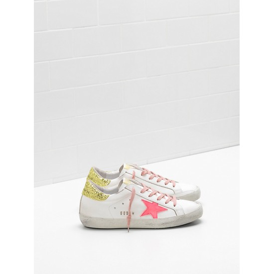 Women Golden Goose superstar upper suede star rose red star logo sneaker