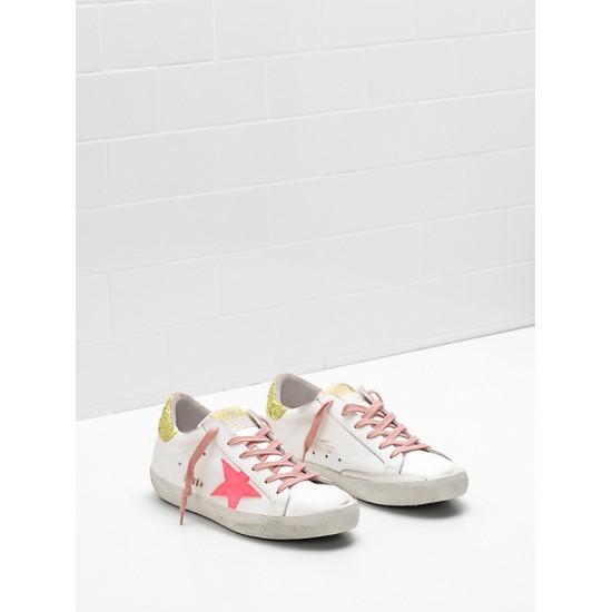 Women Golden Goose superstar upper suede star rose red star logo sneaker