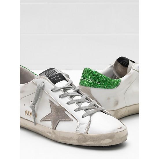 Women Golden Goose superstar upper suede star suede gray star logo sneaker
