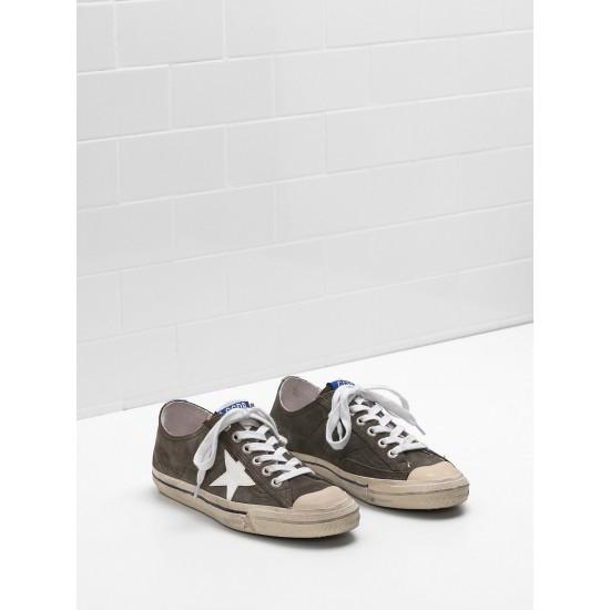 Men/Women Golden Goose v star 2 star in glossy material glitter sneaker
