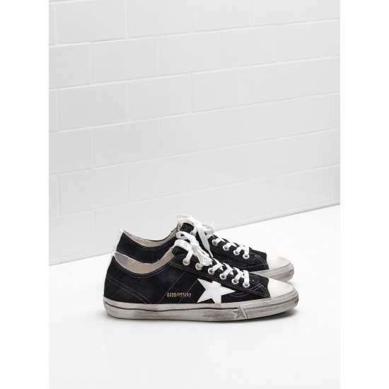 Men/Women Golden Goose v star 2 calf suede upper star in leather sneaker
