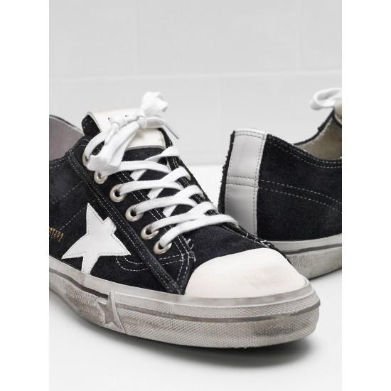Men/Women Golden Goose v star 2 calf suede upper star in leather sneaker