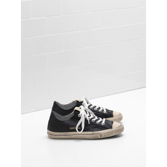 Men/Women Golden Goose v star 2 in black star logo sneaker