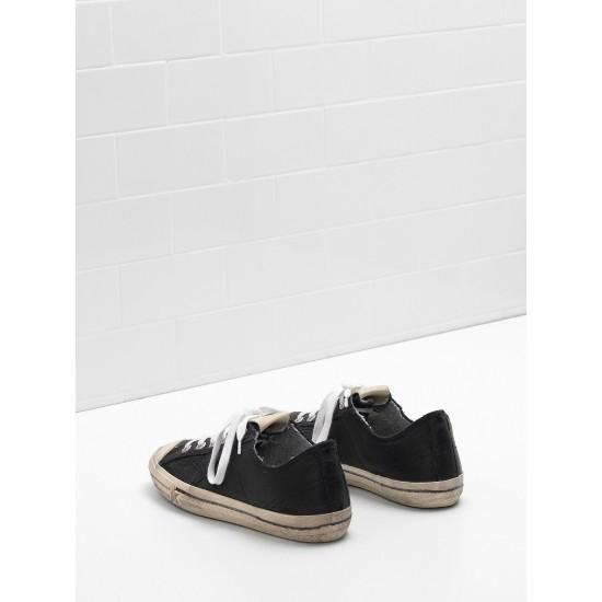 Men/Women Golden Goose v star 2 in black star logo sneaker